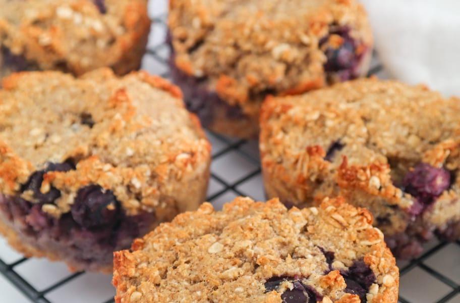 Gezonde bluebberry muffins