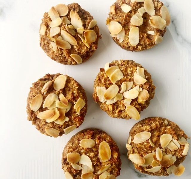 Vegan appeltaart muffins