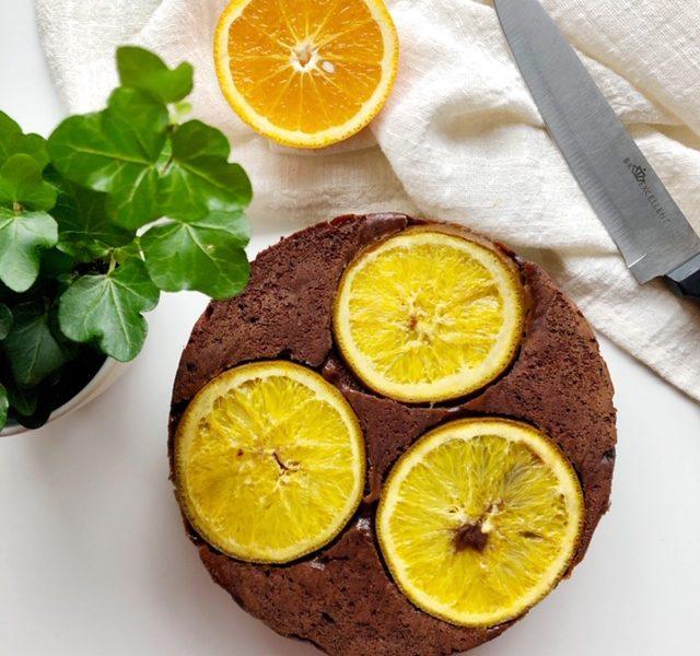 Vegan chocolade sinaasappelcake