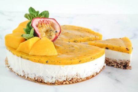 Mango Passievrucht taart