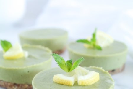 Raw Matcha Cheesecake