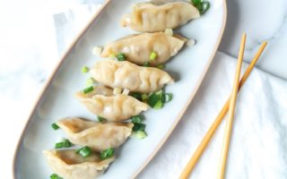 Dumplings met pulled oats