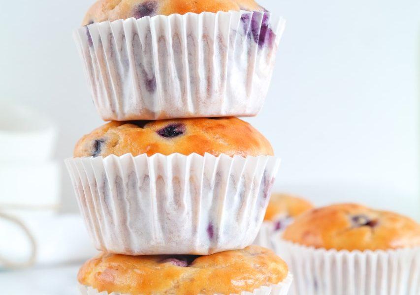 Kwarkmuffins met blauwe bessen