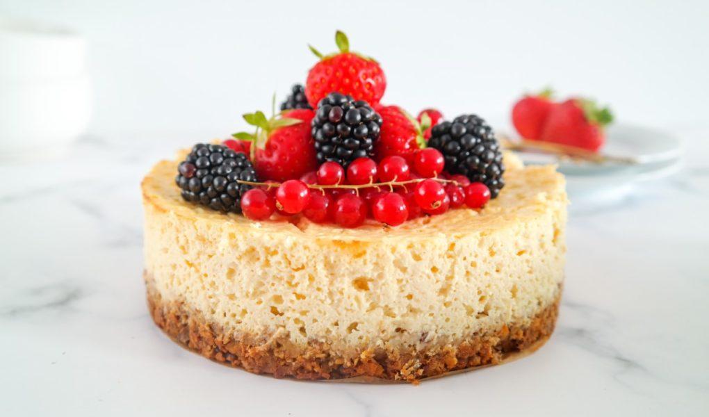 Gezonde citroencheesecake