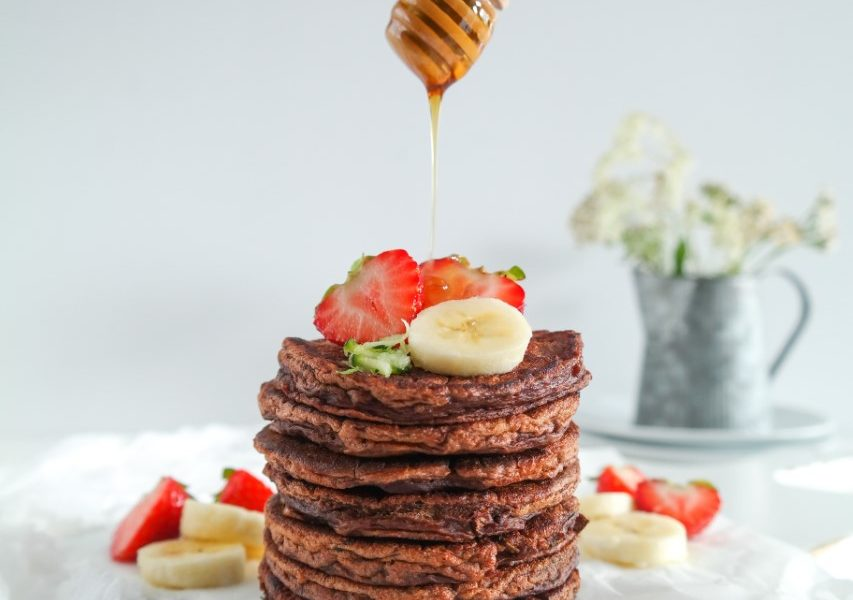 Chocolade Courgette Pancakes