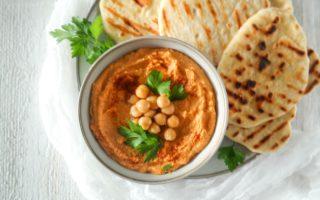 Gegrilde Paprika Hummus