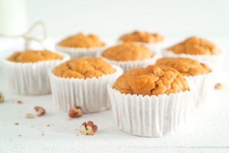 Zoete aardappel muffins