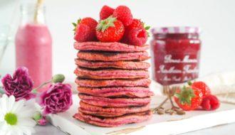 Pink Velvet Pannenkoeken