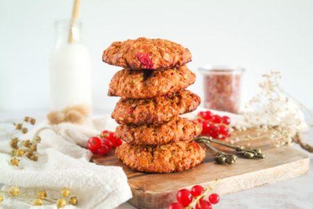 Granola koeken met rode bessen