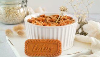 Lotus crumble baked oats